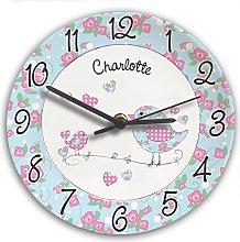 Personalised Girl's Bedroom Wall Clock -