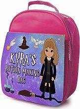 Personalised Girls School Lunch Bag - Harry Wizard