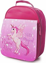 Personalised Girls School Lunch Bag - Pink Unicorn