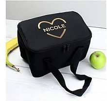 Personalised Gold Heart Lunch Bag