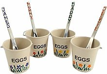 Personalised Hand Painted Egg Cup Buckets with
