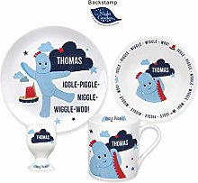 Personalised Iggle Piggle Ceramic 4 Piece