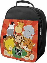 Personalised Kids Lunch Bag Animals Thermal