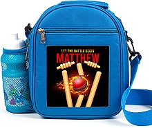 Personalised Kids Lunch Bag Cricket Thermal