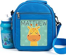 Personalised Kids Lunch Bag Cute Giraffe Thermal