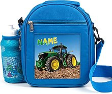 Personalised Kids Lunch Bag Cute Tractor Thermal