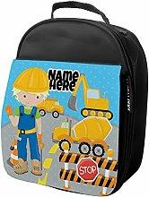 Personalised Kids Lunch Bag Digger Thermal