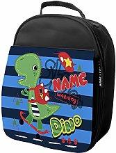 Personalised Kids Lunch Bag Dinosaur Thermal