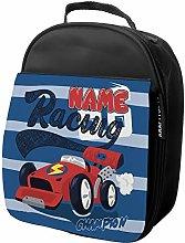 Personalised Kids Lunch Bag Racing Car Thermal