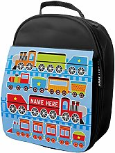 Personalised Kids Lunch Bag Racing Train Insulated