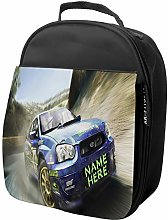 Personalised Kids Lunch Bag Rally CAR Thermal