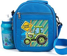 Personalised Kids Lunch Bag Tractor Thermal