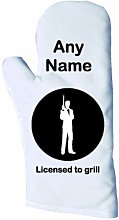 Personalised, Licensed to Grill Oven Glove