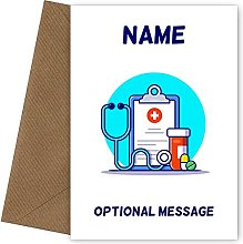Personalised Medical Equipment Birthday Card for