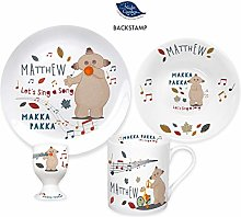 Personalised Musical Makka Pakka Ceramic 4 Piece