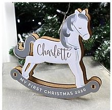 Personalised My First Christmas Decoration Rocking