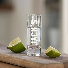 Personalised Name Engraved Tequila Shot Glass for
