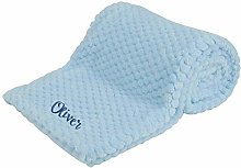 Personalised Newborn Baby Soft Fleece Blanket Pram