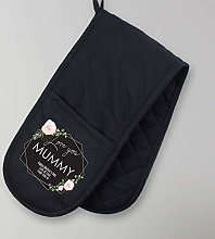 Personalised Oven Gloves Black Oven Gloves Unique