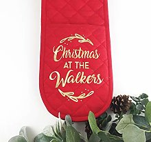 Personalised Oven Gloves | Christmas with The