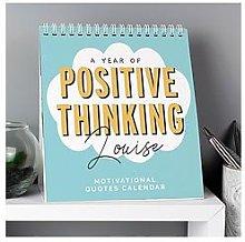 Personalised Positive Thinking 2021 Desk Calendar
