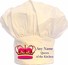 PERSONALISED QUEEN OF THE KITCHEN CROWN CHEFS HAT