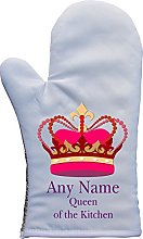 PERSONALISED QUEEN OF THE KITCHEN PRINT OVEN MITT