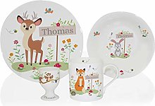 Personalised Woodland Animals Scene Ceramic 4