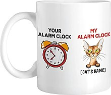 Personalized Cat Alarm Clock with Name, Customized