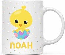 Personalized Kids Milk Hot Chocolate Mug, Easter