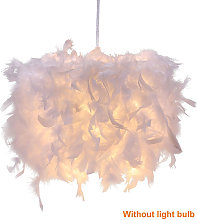Personalized modern E27 feather round chandelier