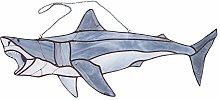 Personalized Stained glass Shark suncatcher Unique