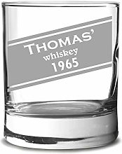 Personalized whickey Glass with Engraving -