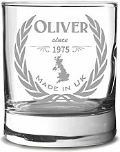 Personalized Whiskey Glass with Engraving -