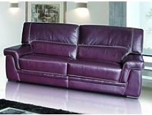 Perugia 2 Seater Contemporary Italian Leather Sofa