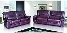 Perugia 3+2 Contemporary Italian Leather Sofa