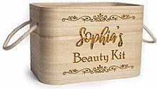 Pesronalised Wooden Box with Jute Handles Engraved