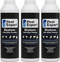 Pest Expert Flea Killer Powder 3 x 100g - Diatom