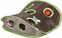 Pet Cat Tent Toy, 9 Holes Mouse Hunt with Bell