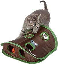 Pet Cats Mice Game Intelligence Toy Bell Tent with