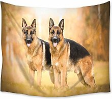 Pet Dog Animal Scenery Tapestry Wall Hanging