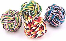 Pet Dog Braided Cotton Rope Knot Ball Chew Toys