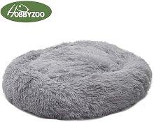 Pet Dog Cat Calming Bed Warm Soft Plush Round
