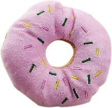 Pet Donut Shape Play Plush Toys Pet Chew Toy