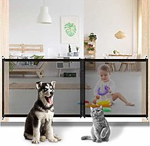 Pet Gate Baby Gate with Zipper, Magic Indoor