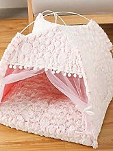 Pet House Cat Bed Foldable Winter Warm Small Cats