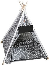Pet Teepee Dog Tent with Cushion House Removable