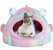 Pet Tent Cave Bed for Cats/Small Dogs - 2-In-1 Cat