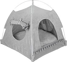 Pet Tent Dog Cat Teepee with Removable Washable