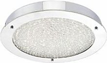 Peta ceiling light polished chrome and crystal 1